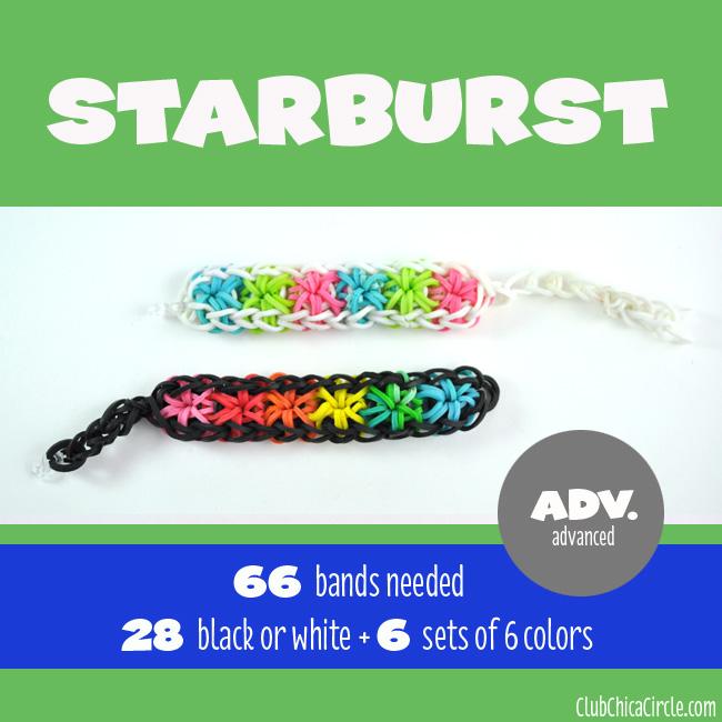 Rainbow loom bracelets double rhombus
