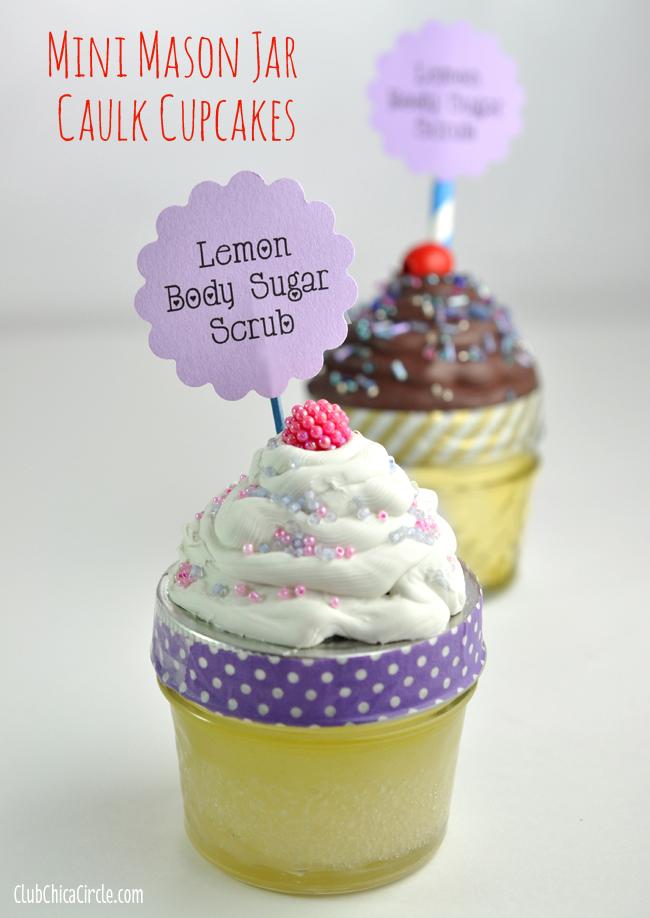 White and chocolate caulk cupcake mason gift jars and party treats