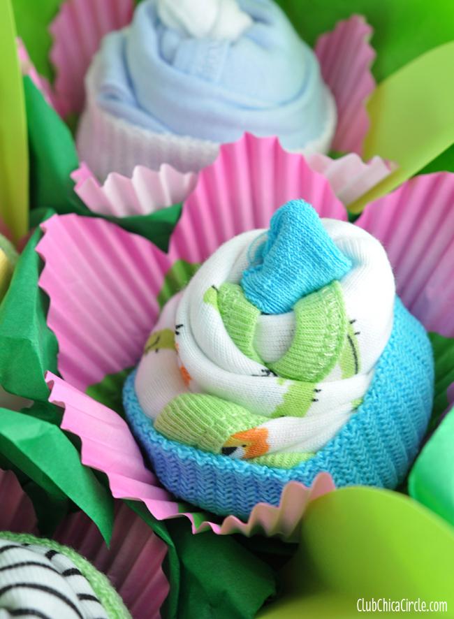 cupcake onesie flowers