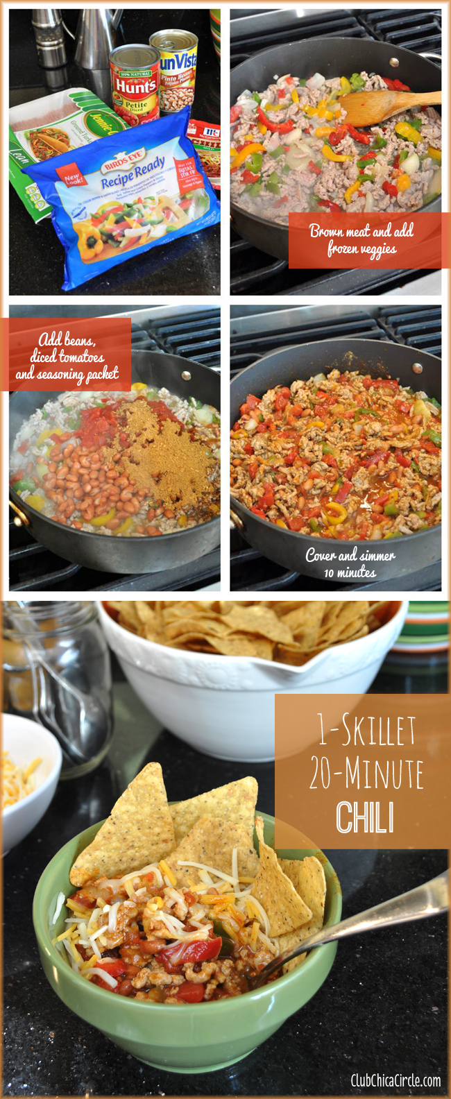 1-Skillet 20-Minute Easy Turkey Chili Recipe Idea