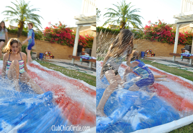 4th of July water blob backyard party fun for kids