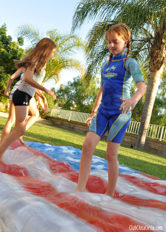 Backyard 4th of July Water Blob DIY