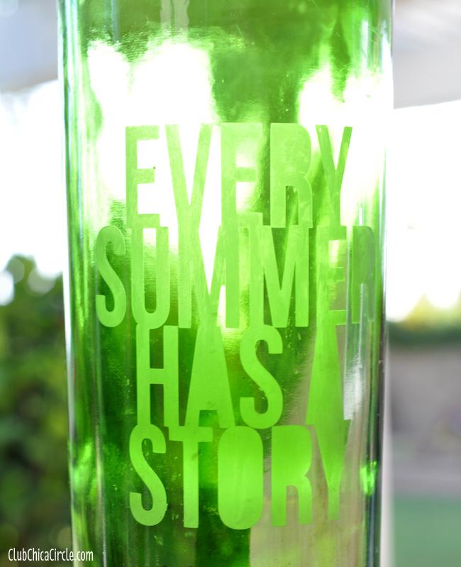 Custom Glass Etched Wine Bottle