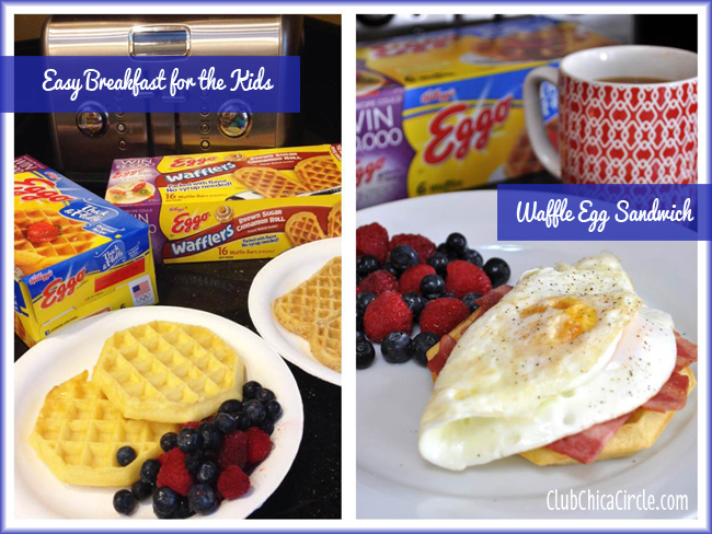 Easy Frozen Waffle Breakfast Ideas