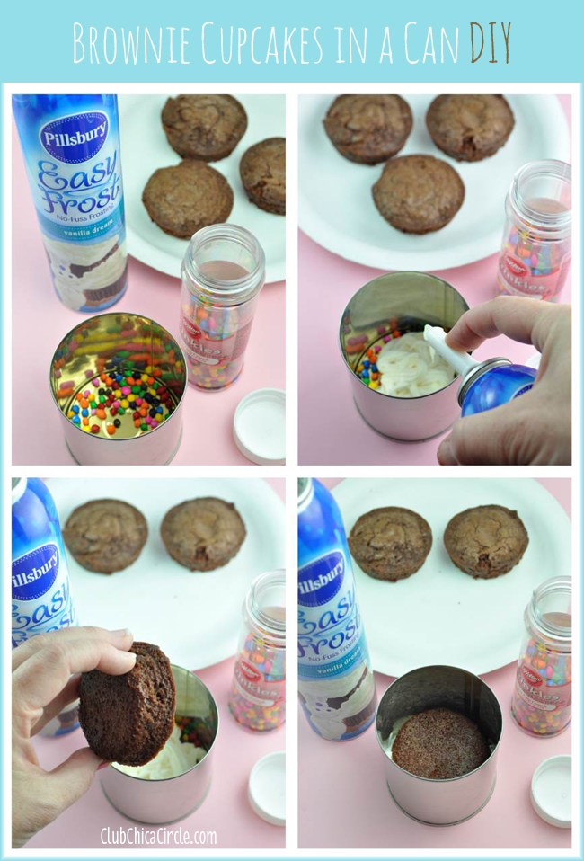 How to make a brownie cupcakes in a can
