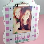 Tween decorated Heidi Swapp Clipboard Picture Frame Craft