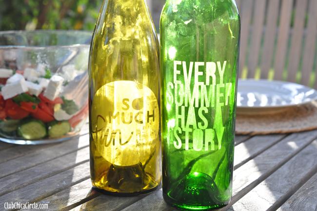 Upcycled Wine Bottle Candles