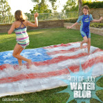 Water Blob splashing easy backyard fun for kids