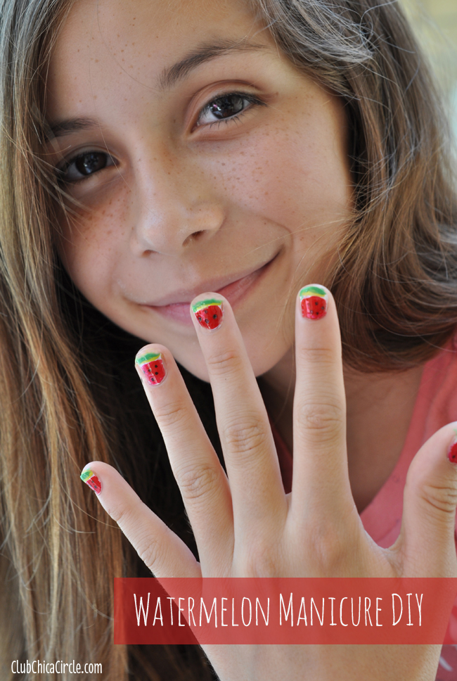 Watermelon Tween Manicure DIY