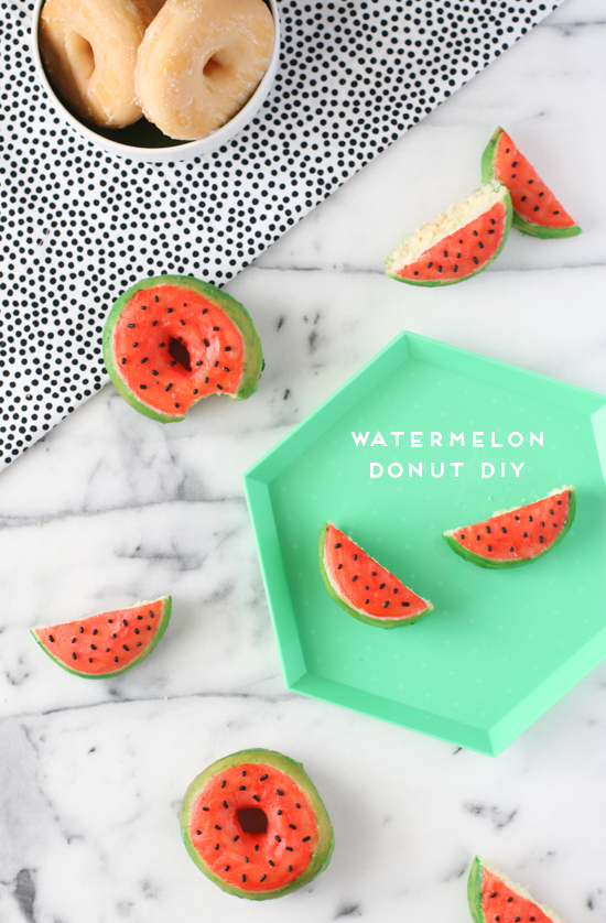diy-watermelon-donuts