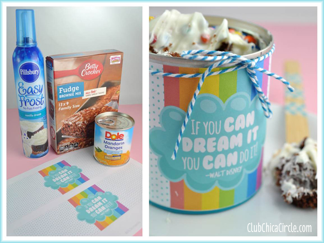 easy brownie cupcakes in a can graduation treat