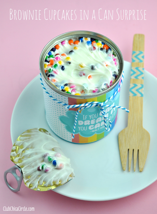 surprise cupcakes in a can gift idea for kids