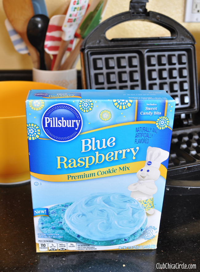 Blue Rasberry Waffle Cookies recipe idea