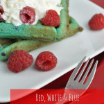 Blue Raspberry cookie waffle dessert idea