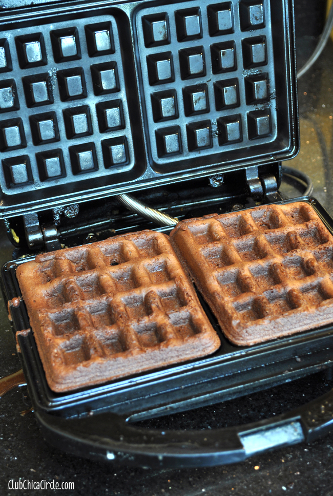Brownie Waffles easy recipe idea