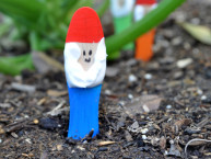 Homemade Garden Gnomes from Craft Sticks