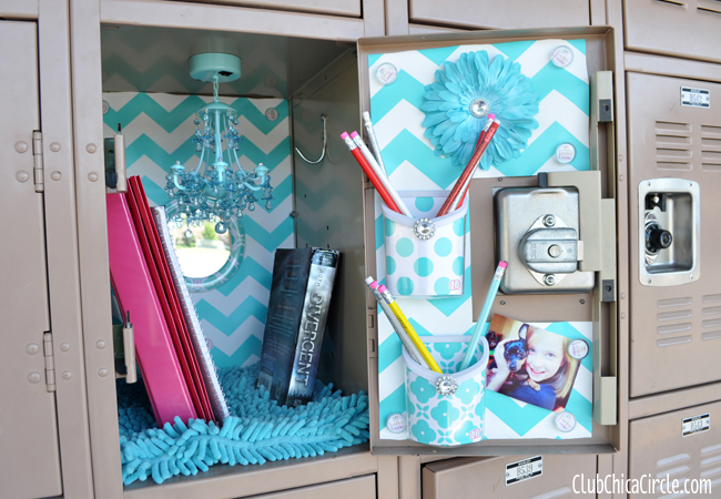 Locker Decoration Ideas glam up your locker with llzlockerlookz | club chica circle