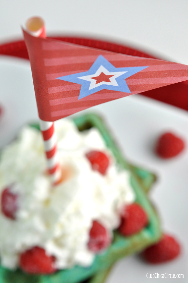 Patriotic dessert flags free printable