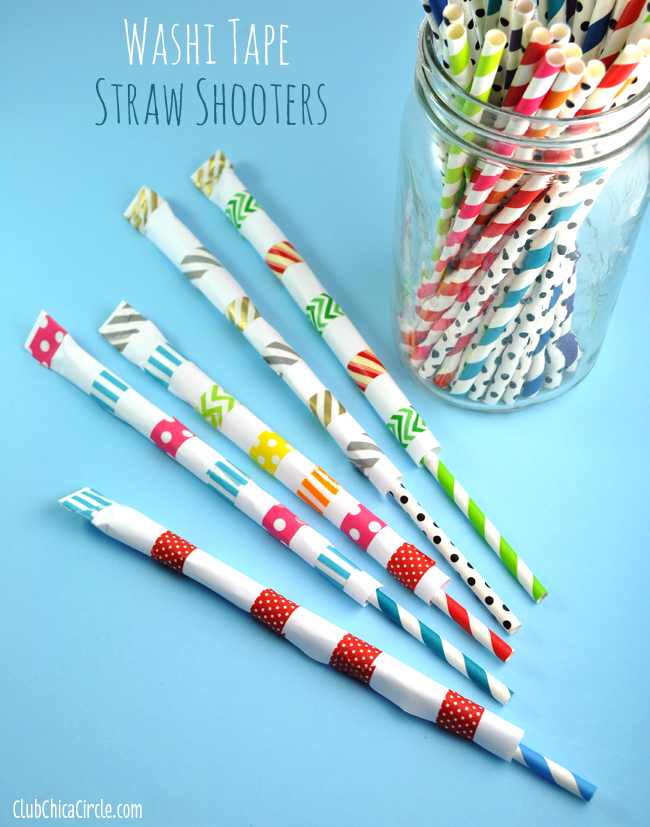 Washi Tape Straw Shooters Easy Tutorial Kids Craft Idea