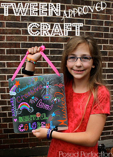 graffiti-memo-board-craft idea for tweens