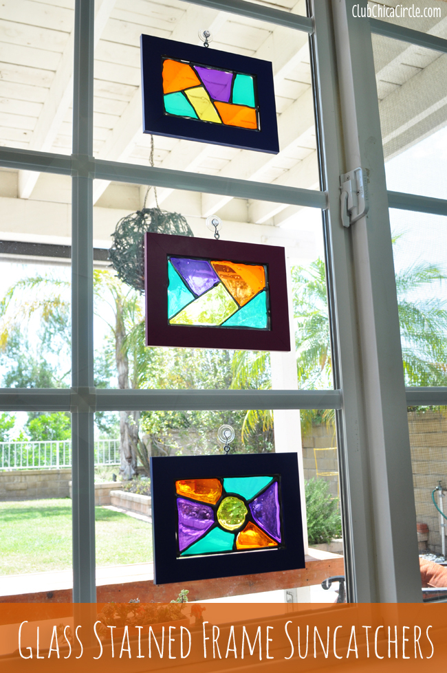Glass Stained Frame Suncatchers - Uncommon Designs