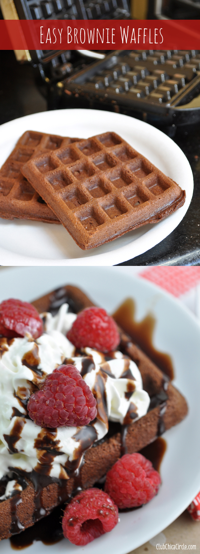 Easy Brownie Waffle Dessert | Club Chica Circle - where crafty is ...