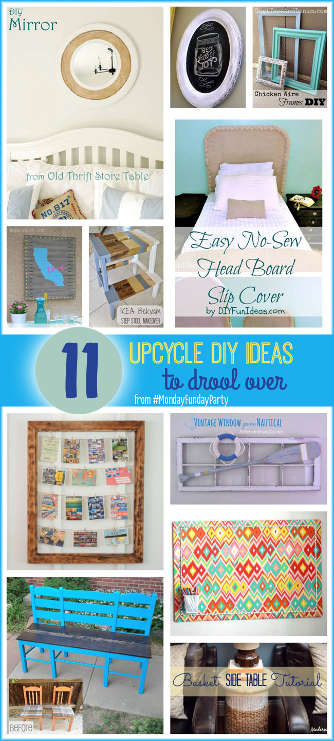 11 Upcycle DIY Ideas to Drool Over #MondayFundayParty
