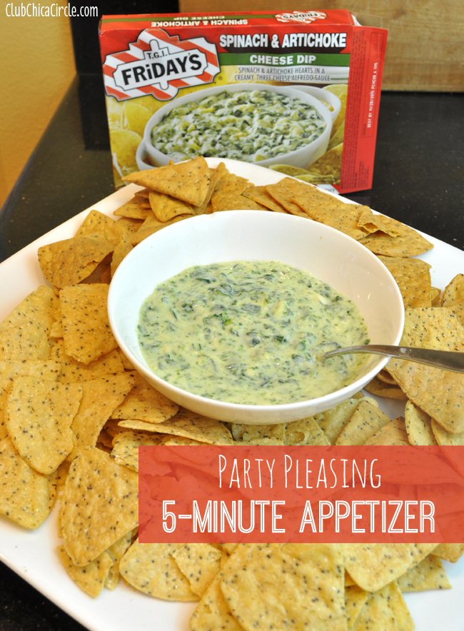 5-minute party pleasing spinach artichoke dip