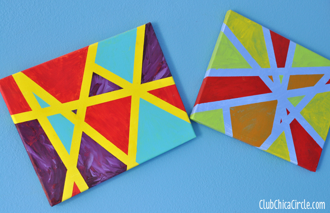 DIY modern art wall art for kids