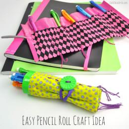Easy Pencil Roll Craft Idea