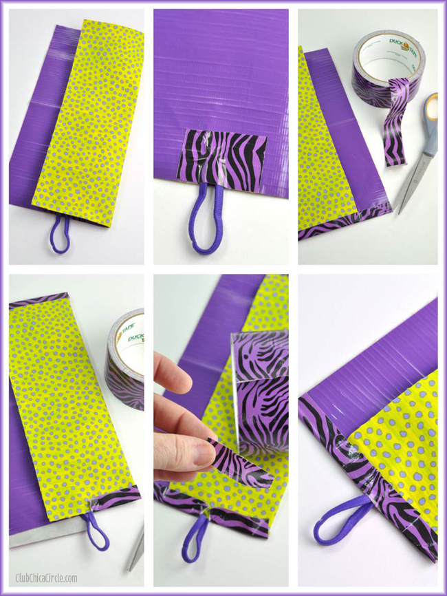 Easy fabric and duck tape pencil roll DIY