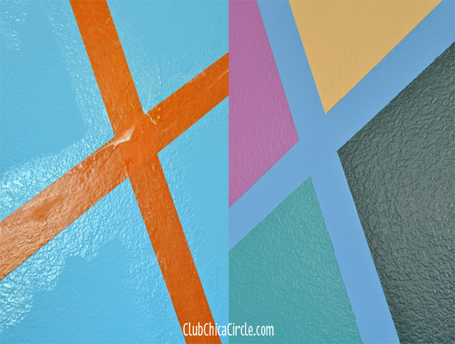 FrogTape paint lines before and after