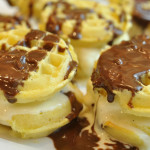 Frozen Waffle Ice Cream Sandwiches for dinner party copy
