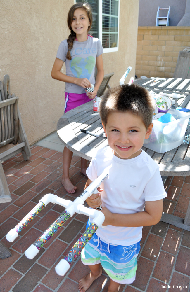 PVC water gun craft for kids