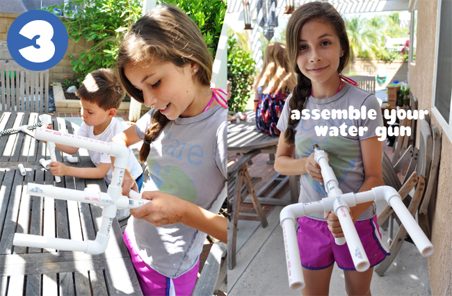 Step 3 - Assemble your water gun