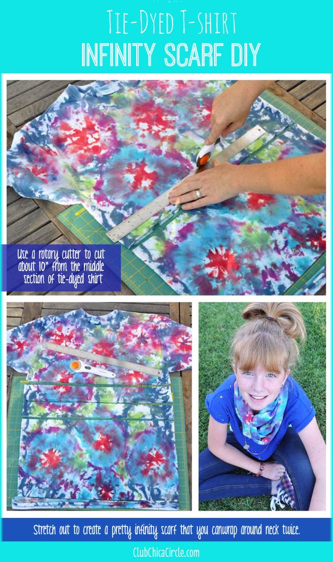 Tween Tie-Dye T-shirt Infinity Scarf DIY