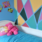 Tween bedroom DIY wall design with frogtape copy