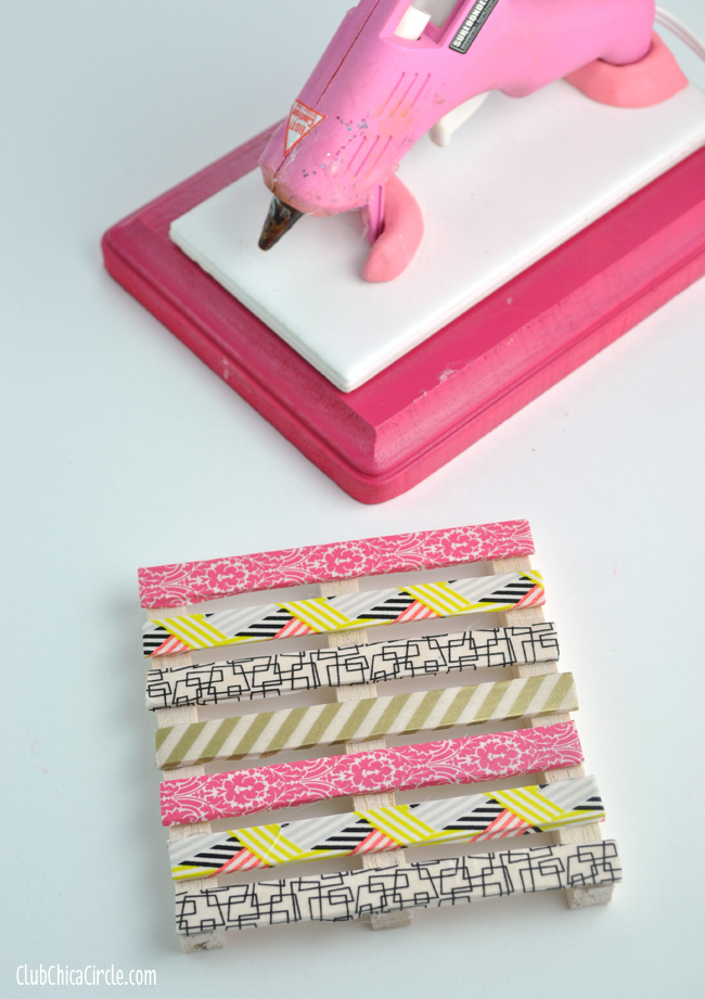 Washi Tape Mini Pallet craft
