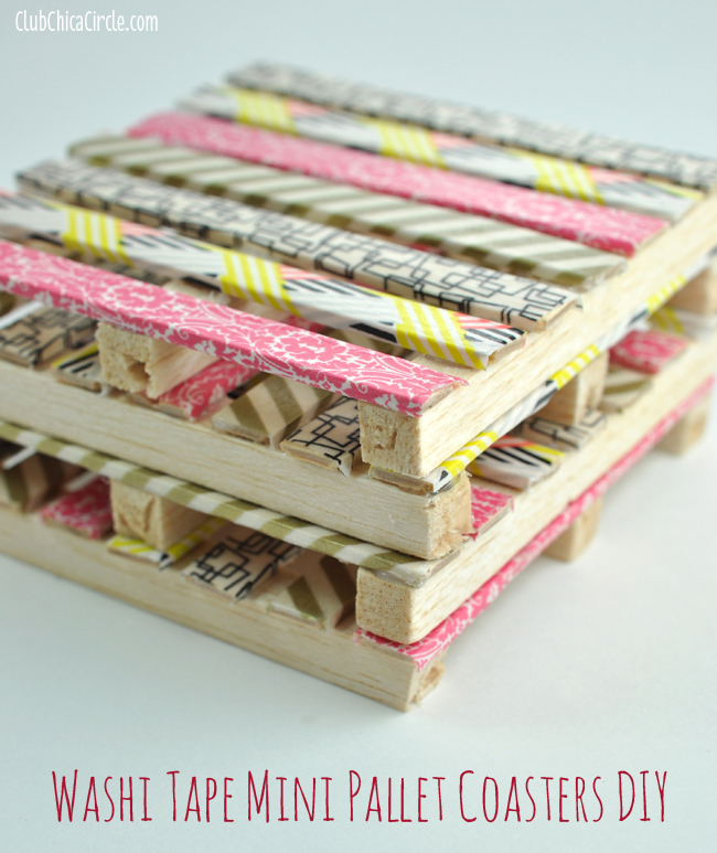 Washi Tape Mini Pallets DIY