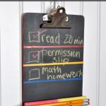 chalkboard back-to-school clipboard craft