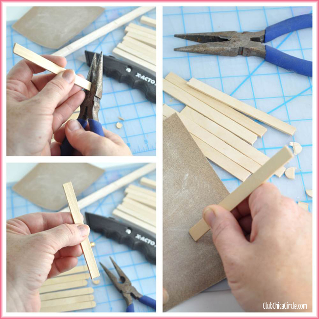 craft stick mini wood pallet DIY