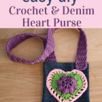 crochet-heart-purse-craft idea for girls