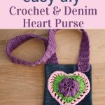 crochet-heart-purse-craft idea for girls