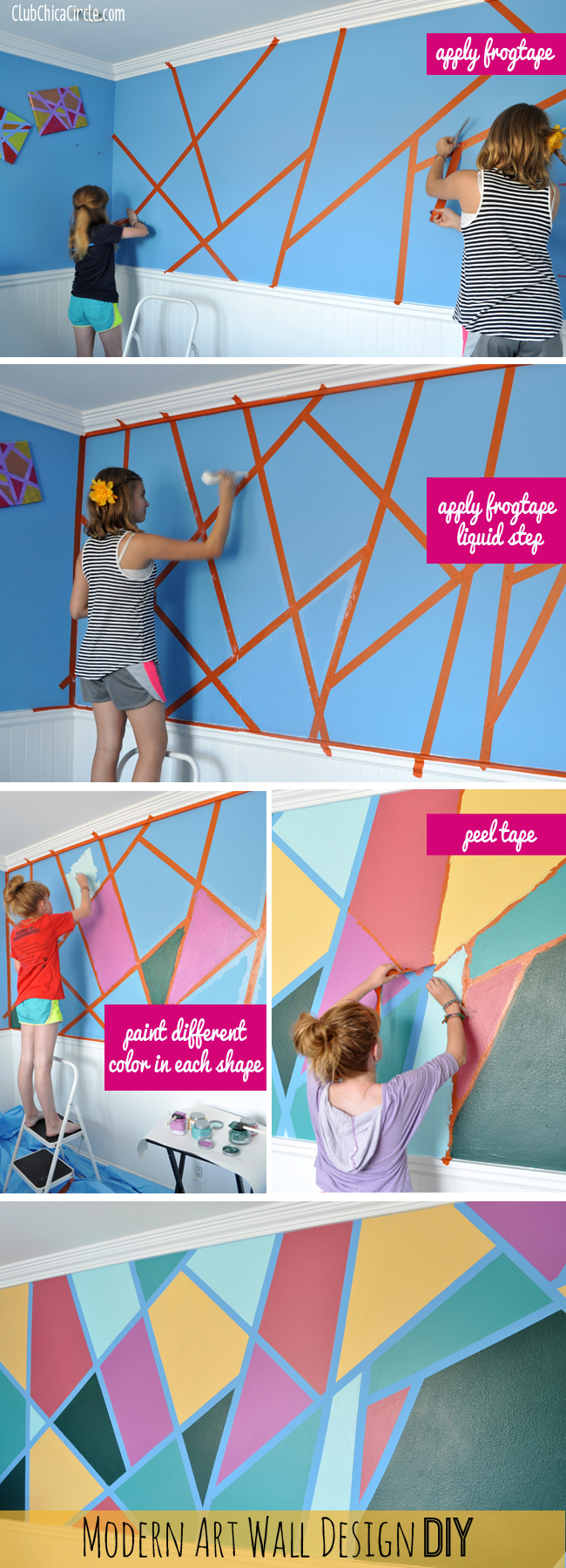 Modern Art Wall Design Diy : Modern art wall design diy for the coolest ever