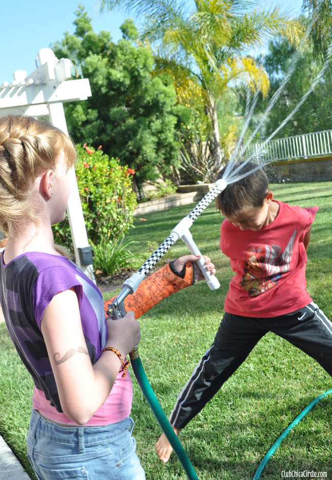 fun with homemade pvc water guns