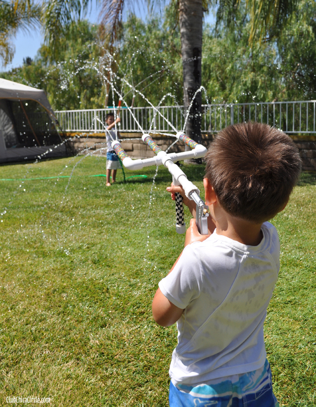 water gun fun with homemade pvc hose water guns
