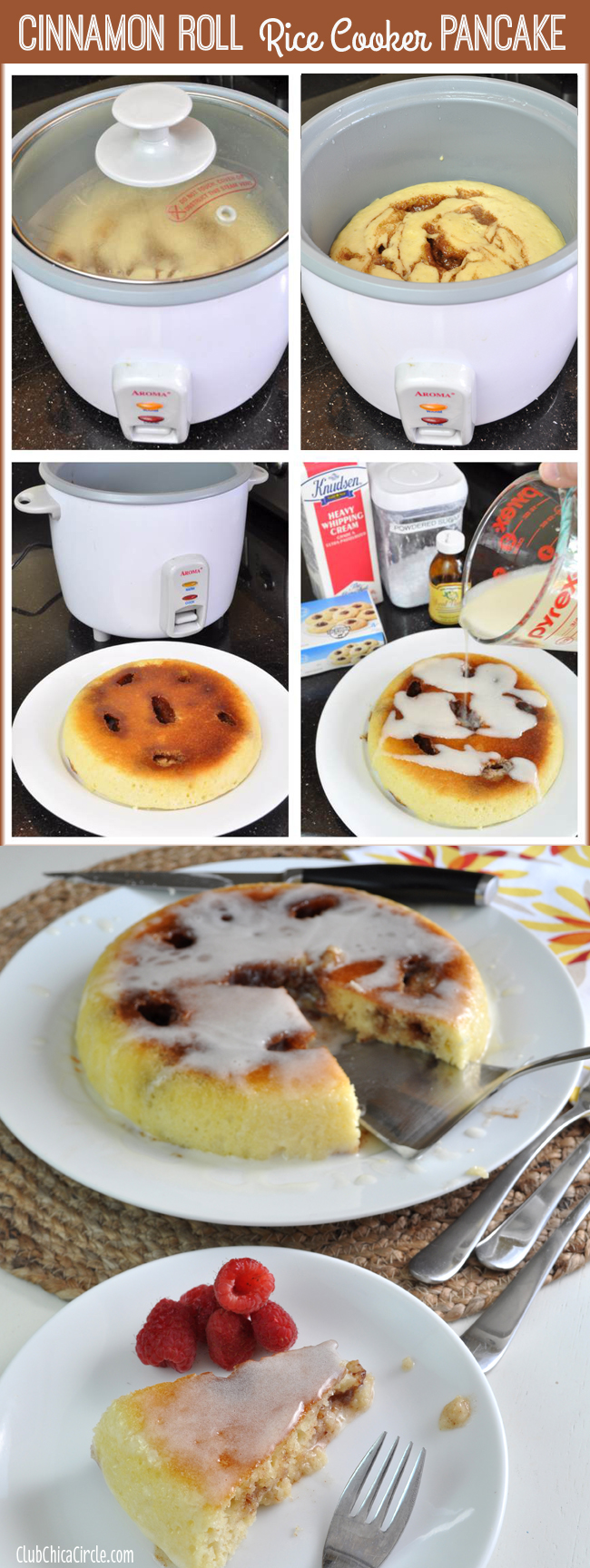 Cinnanon Roll Rice Cooker Pancake Easy Recipe Idea