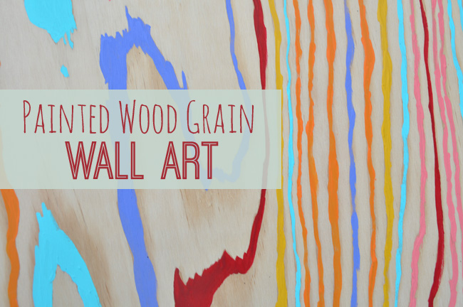 Colorful Wood Grain Homemade Wall Art