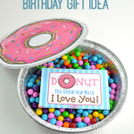 Cute Donut Quote Gift Card Printable and Homemade Birthday Gift Idea