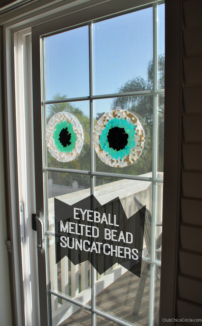 Eyeball melted bead suncatchers tutorial